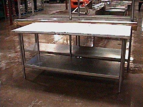 """11: NEW 6'x30"""" SS Worktable w/ undershelf"""