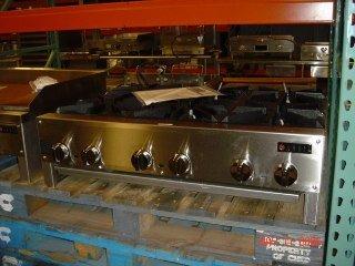 "15: NEW Anvil 6-burner Hot Plate - 36"" natural gas"