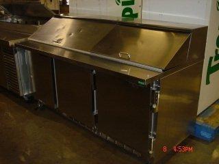 21: 6' Bev Air 3-door Refrig. Prep Table