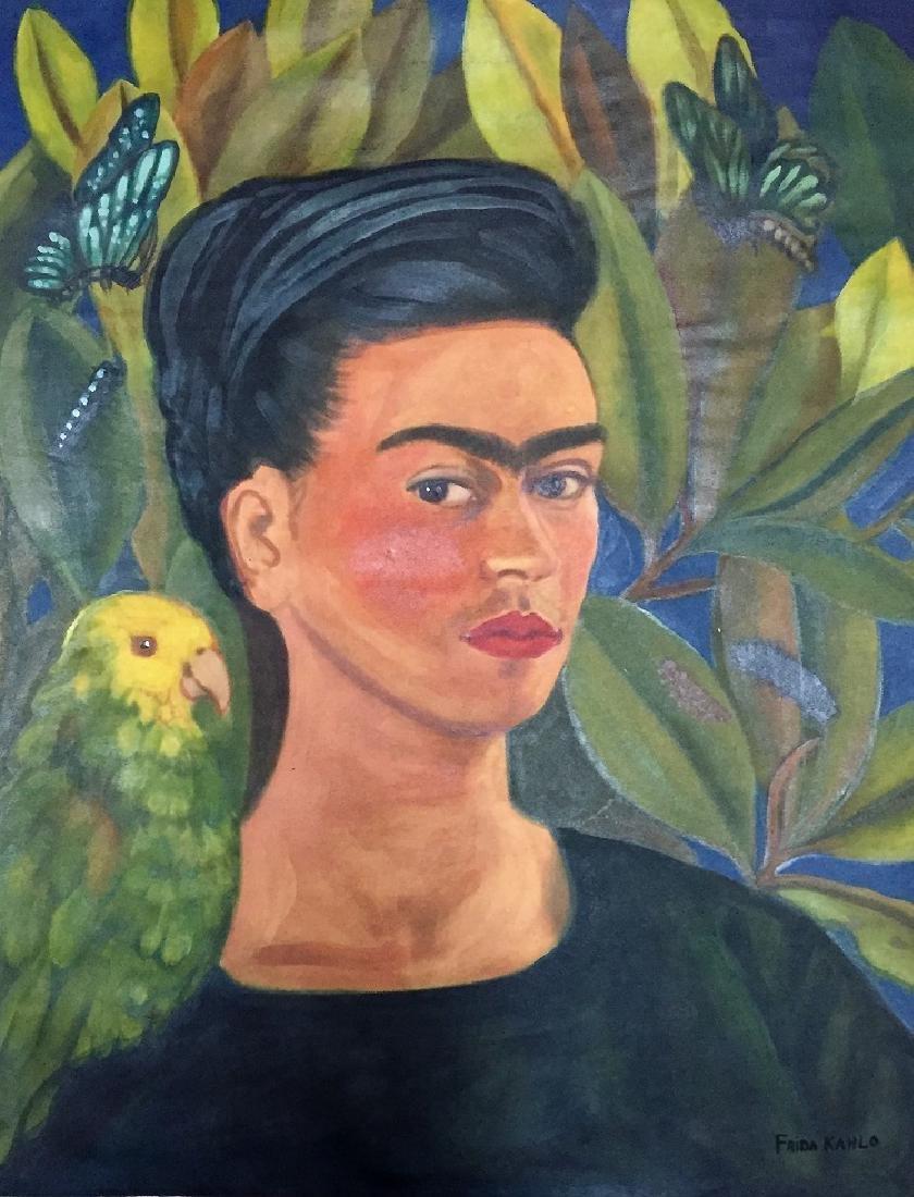Frida Kahlo Mixed media on paper   Attrib./CERTIF