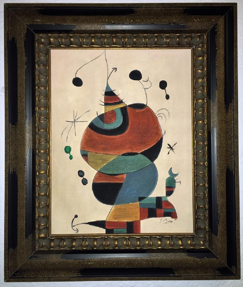 Joan Miro Oil on Canvas   Attrib./CERTIF