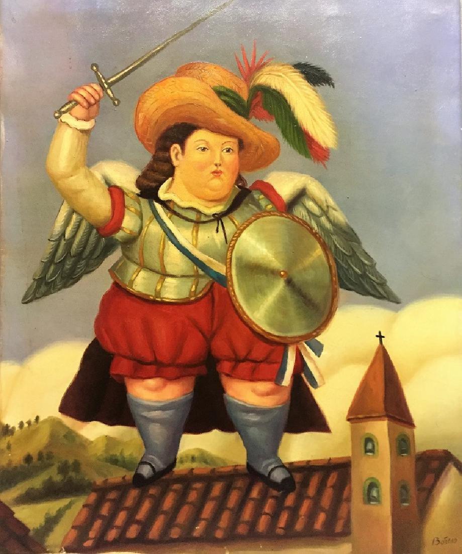 Fernando Botero Oil on Canvas  Attrib./CERTIF