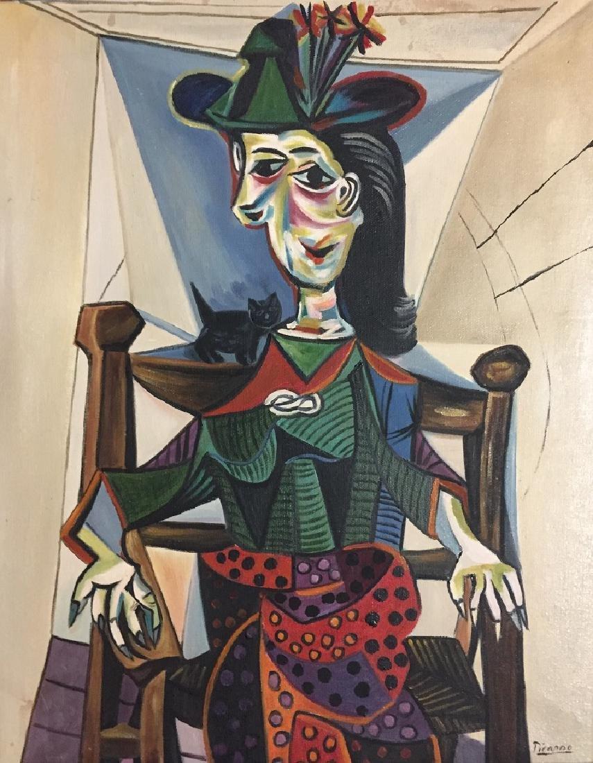 Pablo Picasso Oil on Canvas   Attrib./CERTIF