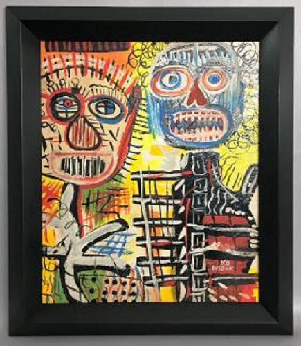 Jean-Michel Basquiat Oil on board   Attrib./CERTIF