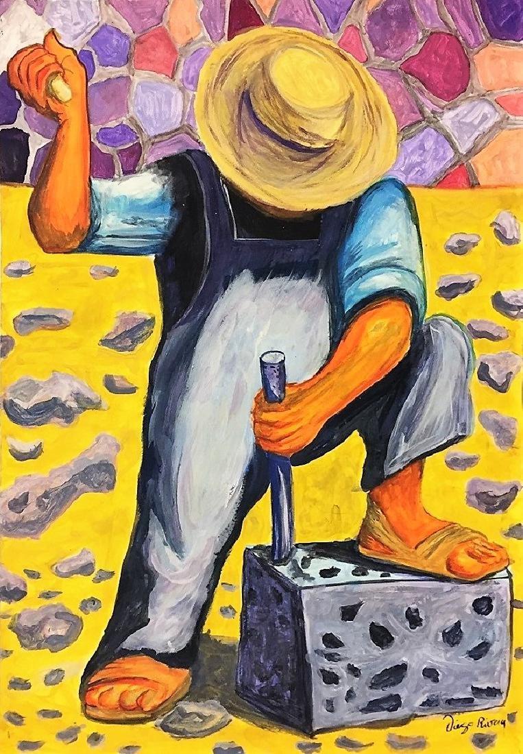 Diego Rivera mixed media on Paper   Attrib./CERTIF