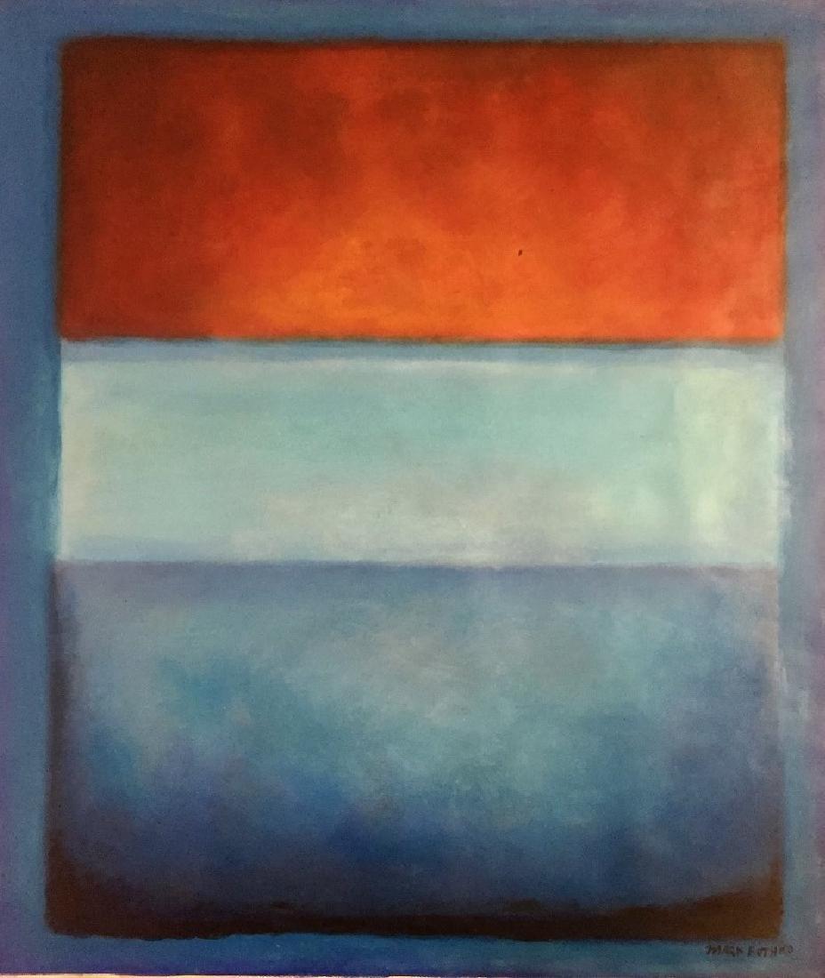 Mark Rothko Oil on Heavy Paper   Attrib./CERTIF