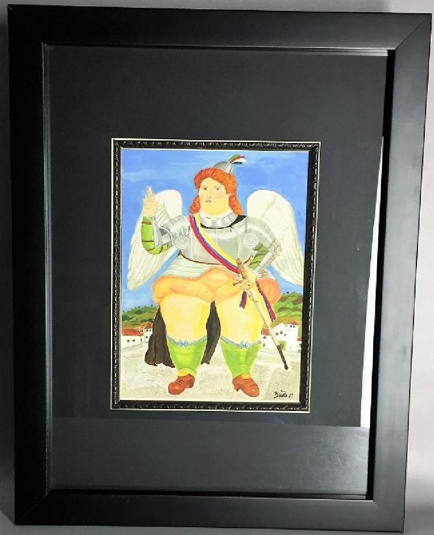 Fernando Botero Watercolor   Attrib./CERTIF