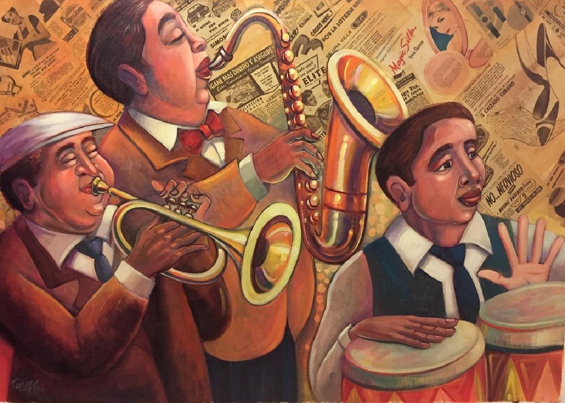 Armando tejuca corominas oil on canvas