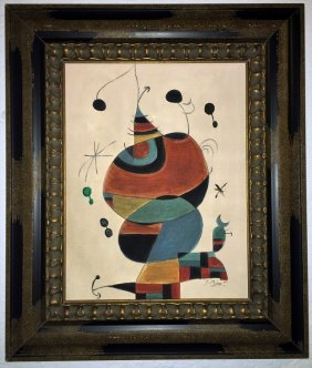 Joan Miro Oil on Canvas