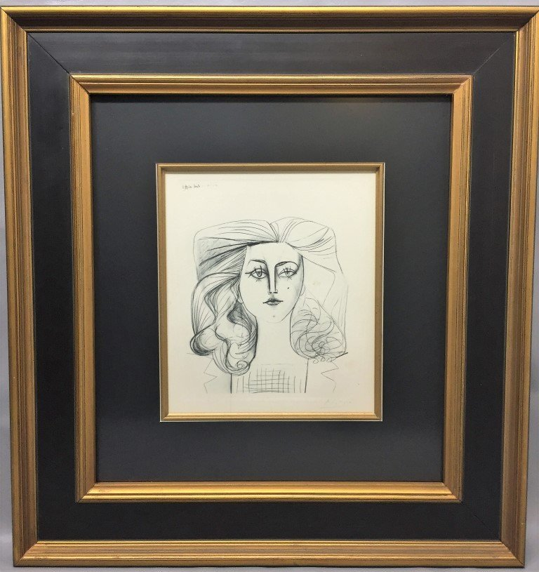 Pablo Picasso Etching  hand signed COA
