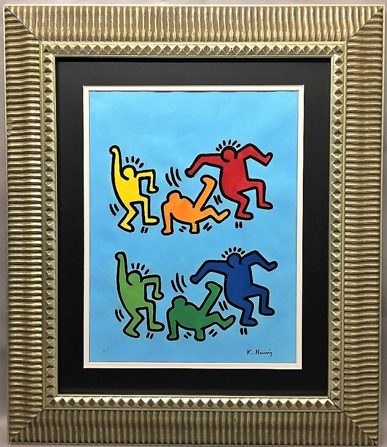 Keith Allen Haring Mixed Media on paper