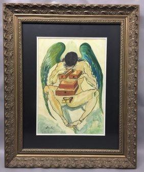 Salvador Dali  watercolor