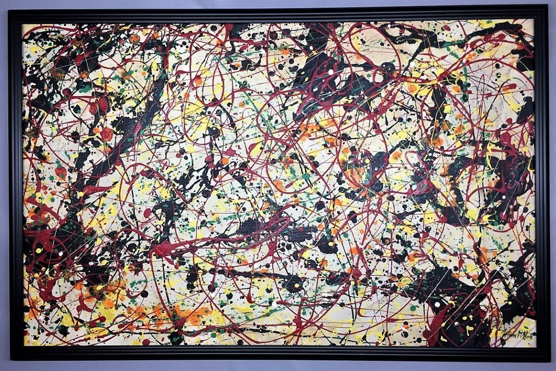 Paul Jackson Pollock Oil on canvas