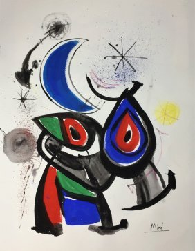 Joan Miro Oil on Paper