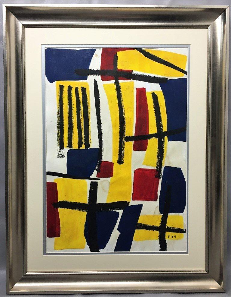 Piet Mondriaan Oil on Paper