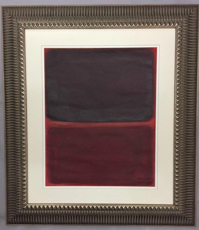 Mark Rothko Oil on Heavy Paper