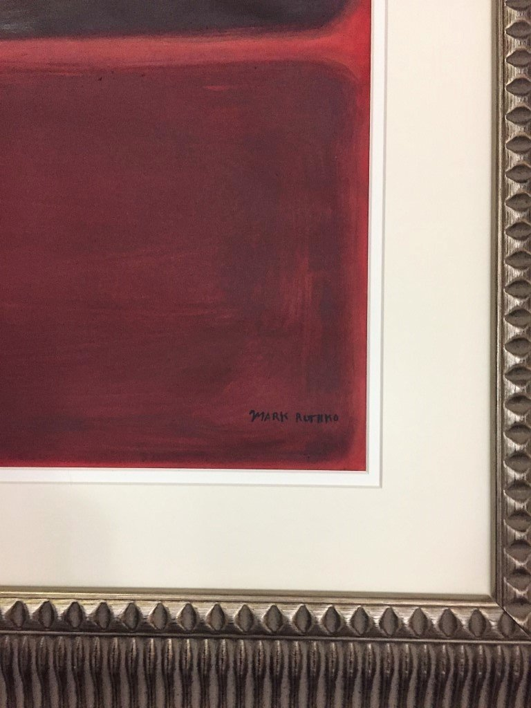 Mark Rothko Oil on Heavy Paper - 2