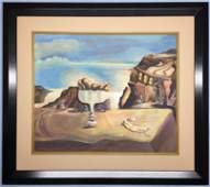 Salvador Dali Watercolor on paper