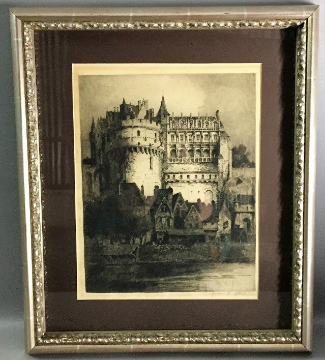 French engraving chateau louis xvi