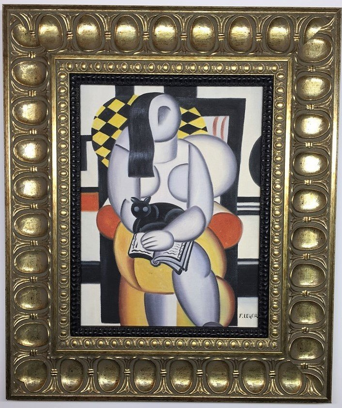 Fernand Leger  Mixed Oil on Canvas