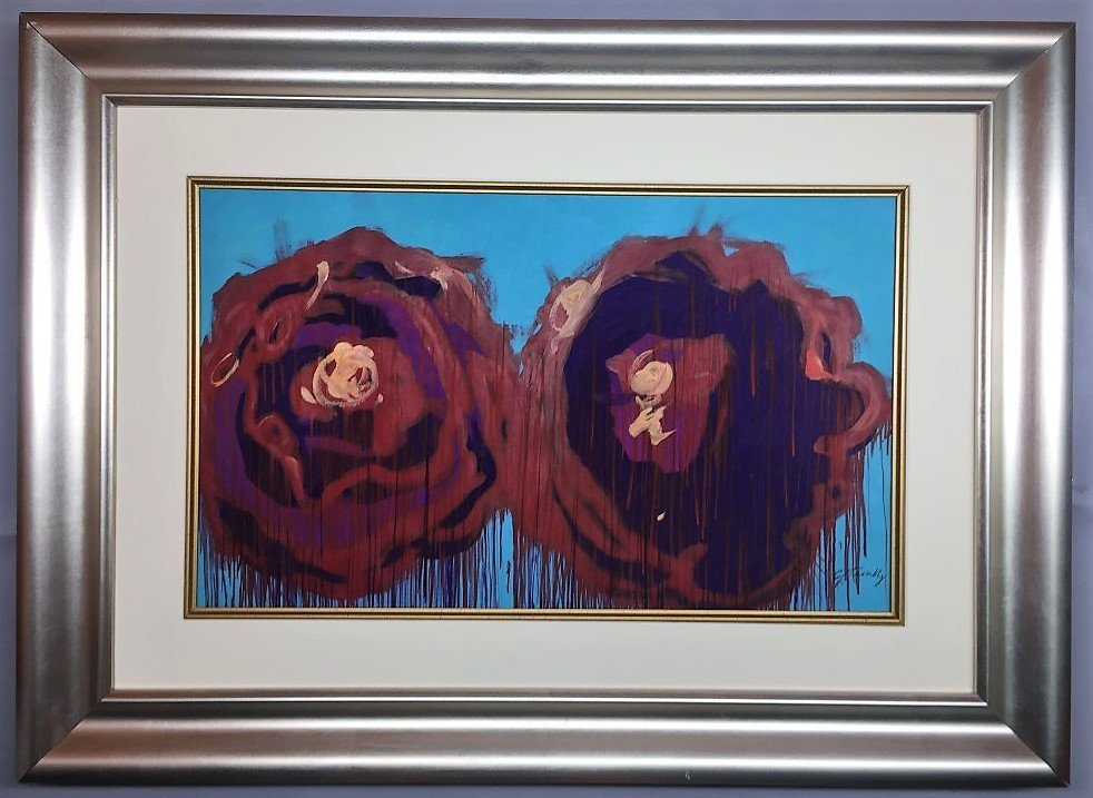 Cy Twombly Gouache on Paper