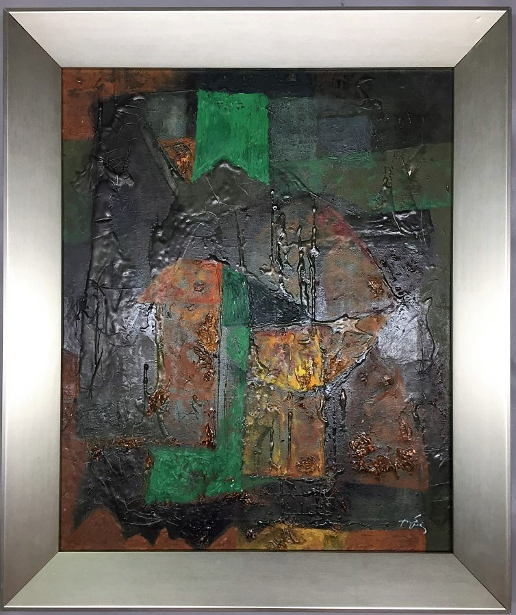 Antoni Tapies Oil on canvas