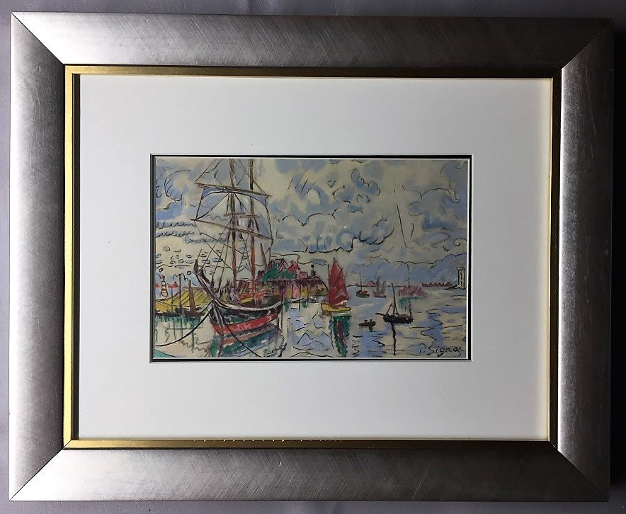 Paul  Signac Mixed Media on paper