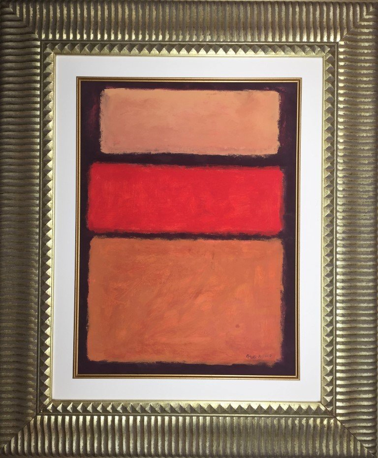 Mark Rothko Mixed Media on  Heavy Paper