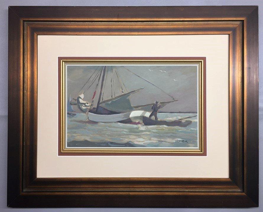 Winslow Homer Gouache on Paper