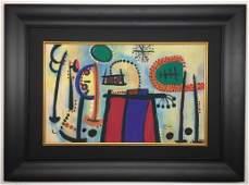 Joan Miro Watercolor