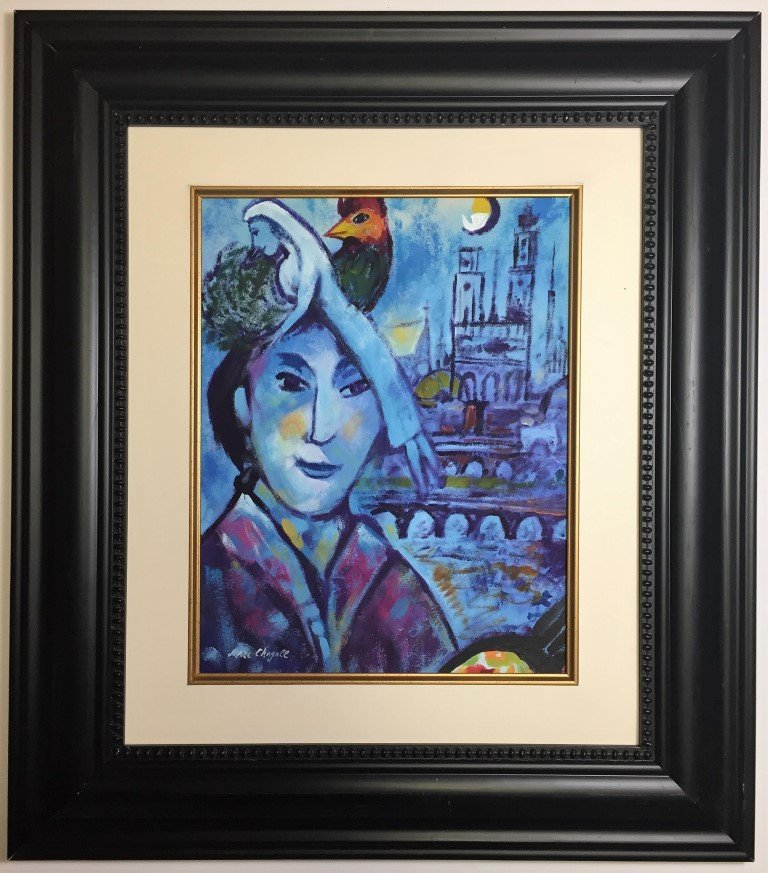 Marc Chagall Mixed Media on paper