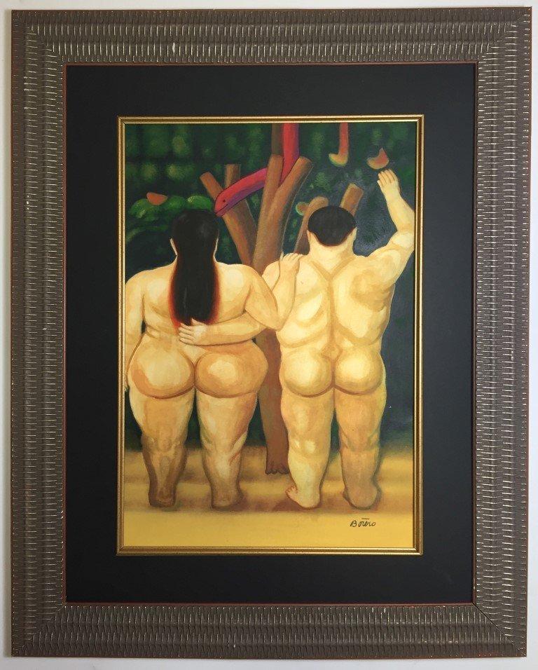 Fernando Botero Watercolor