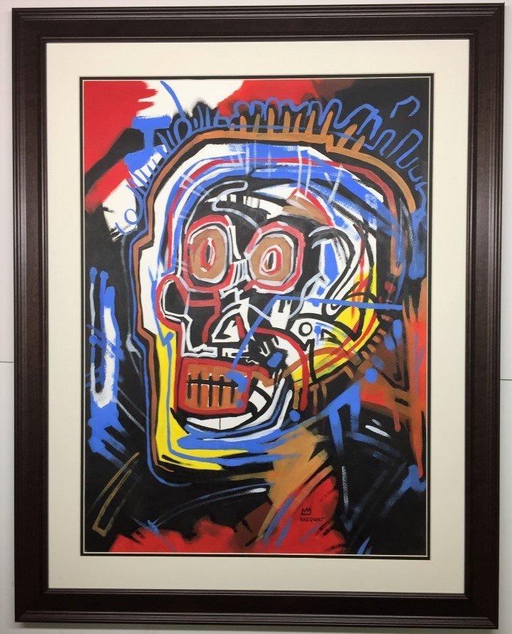 Jean-Michel Basquiat Mixed Media on heavy paper