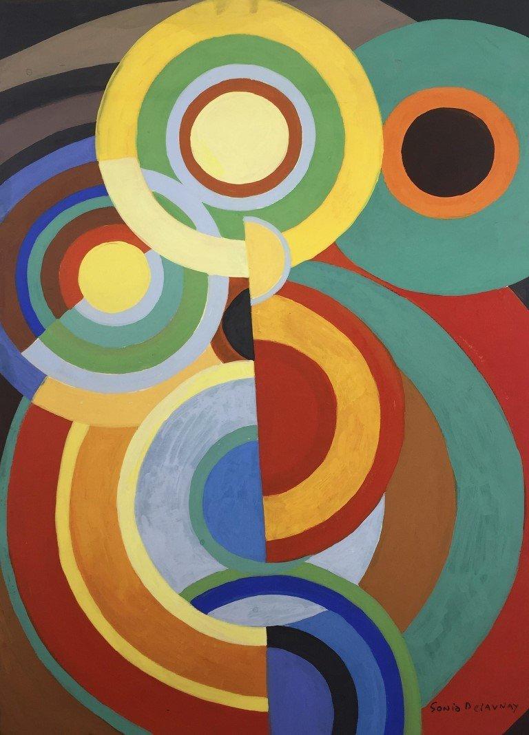 Sonia Delaunay  Gouache on Paper - 2