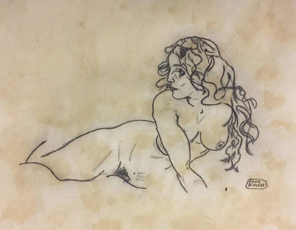 Egon Schiele Ink on paper