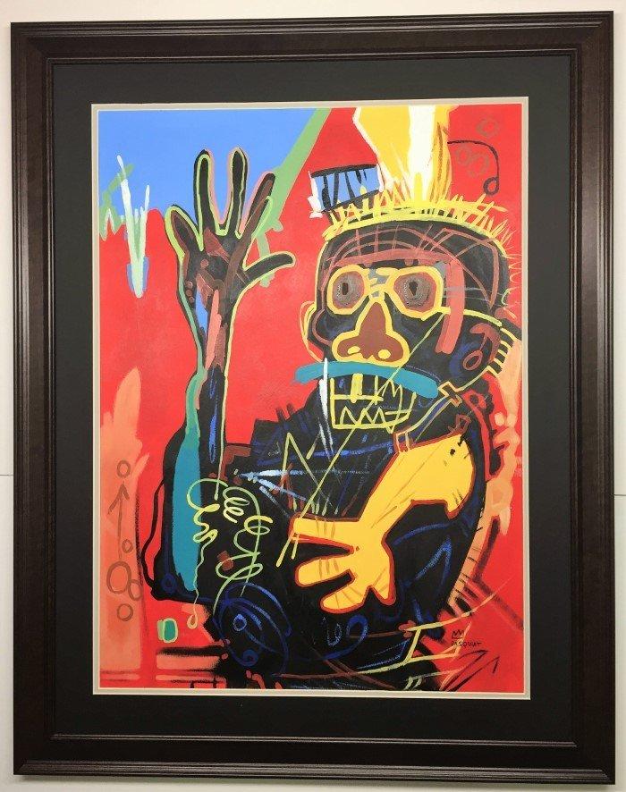 Jean Michel Basquiat Mixed Media on paper