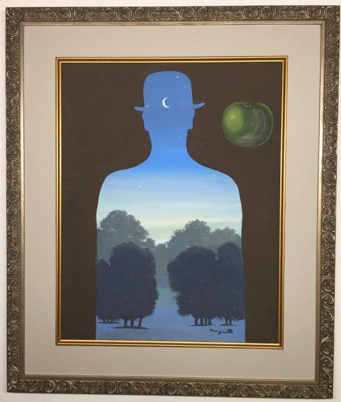 Rene Magritte Watercolor on paper