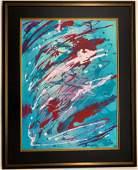 Paul Jackson Pollock Mixed Media on heavy paper
