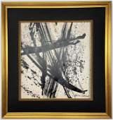 Jackson Pollock Dripping paint on paper