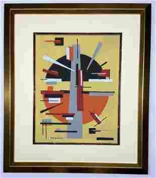 Piet Mondrian Gouache on paper