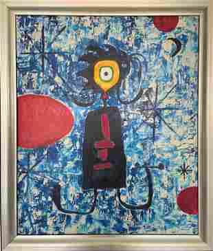 Joan Miró  Oil on Canvas