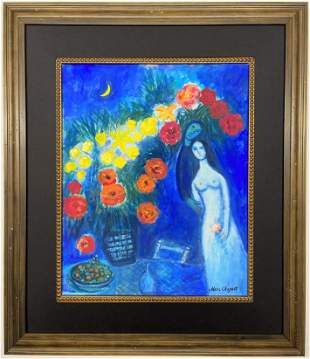 Marc Chagall Gouache on paper