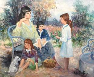 Pierre E Duteurtre Oil on Canvas