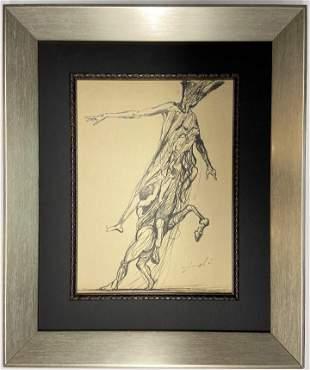 Salvador Dali ink on paper