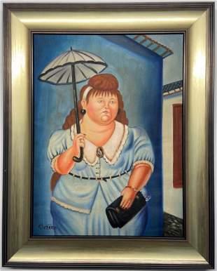 Fernando Botero oil on canvas