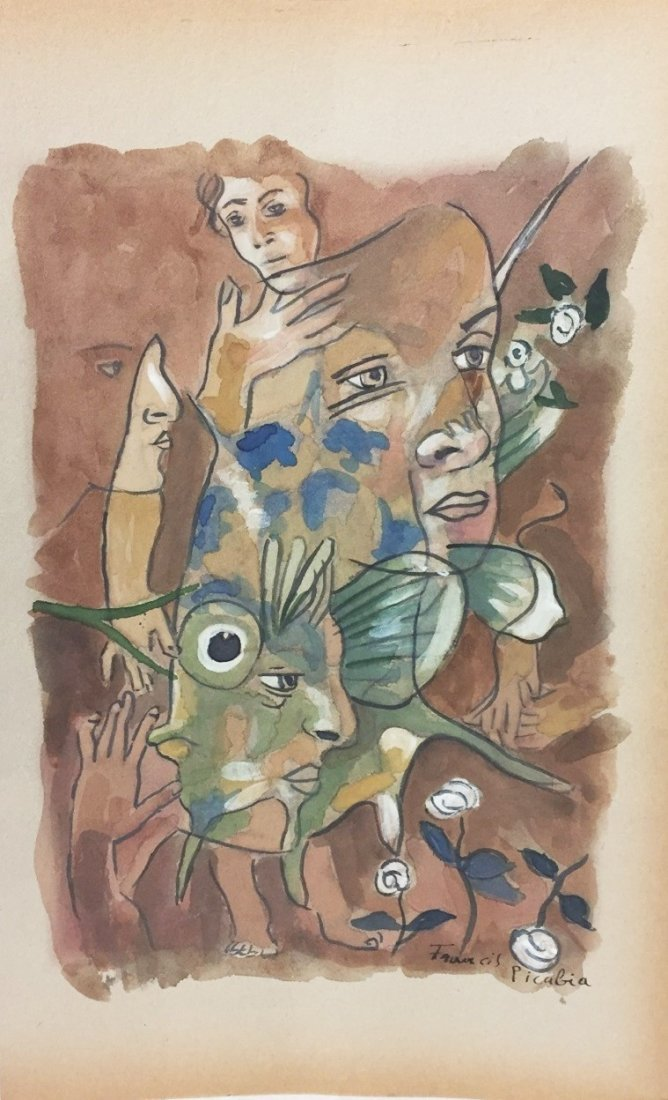 WATERCOLOR ON PAPER  FRANCIS PICABIA
