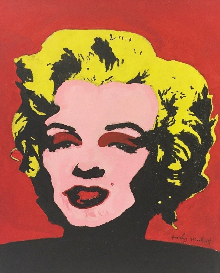 OIL ON PAPER ANDY WARHOL