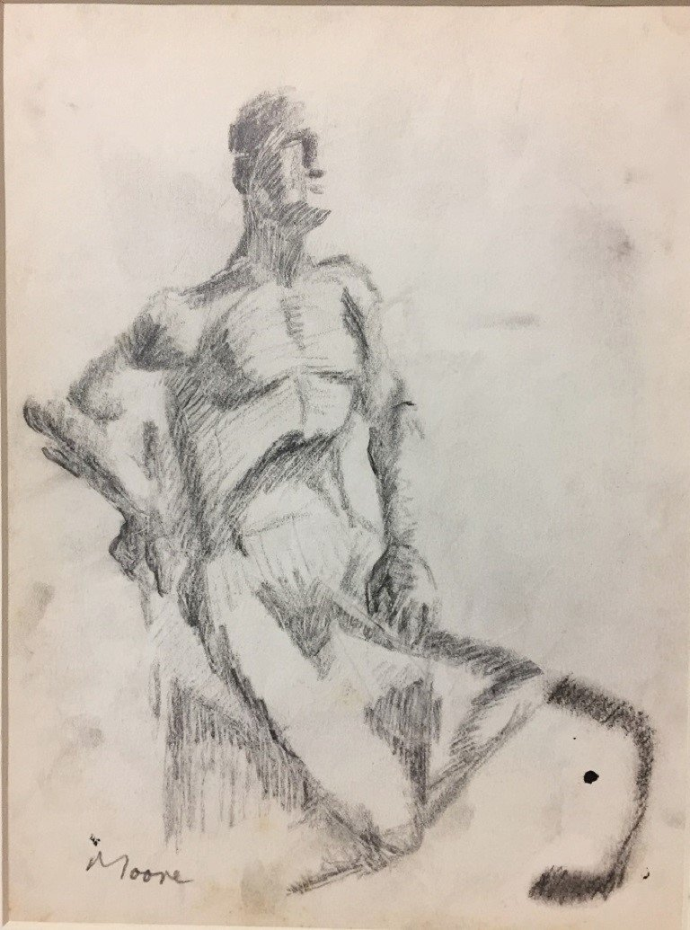 GRAPHITE ON PAPER  MOORE