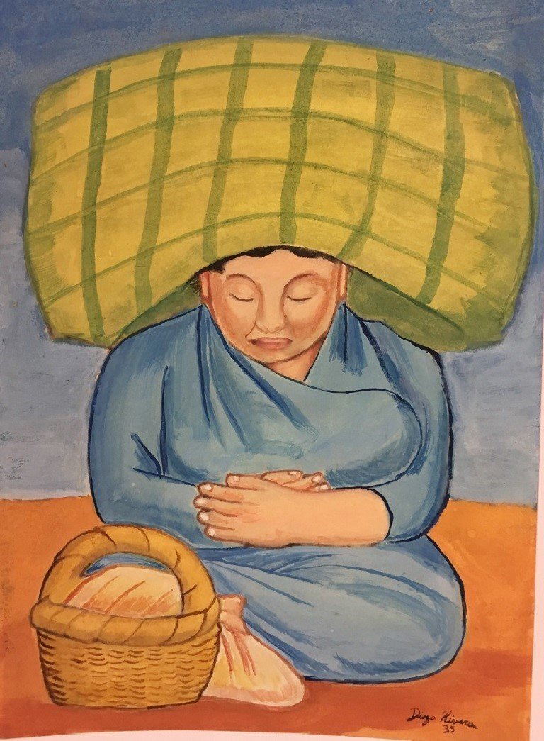 WATERCOLOR ON PAPER  DIEGO RIVERA