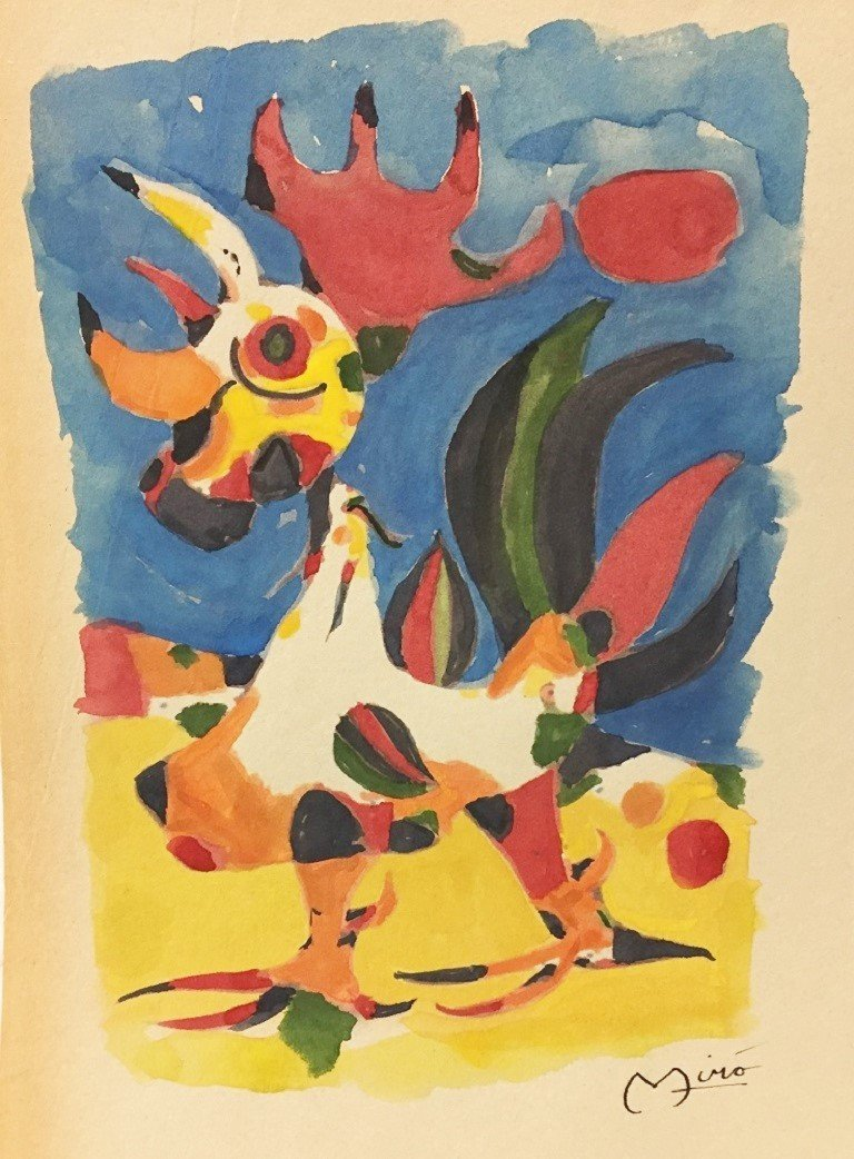 WATERCOLOR ON PAPER  MIRO
